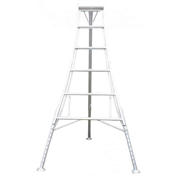Aluminium Garden Tripod Ladder 3 Adjustable Legs