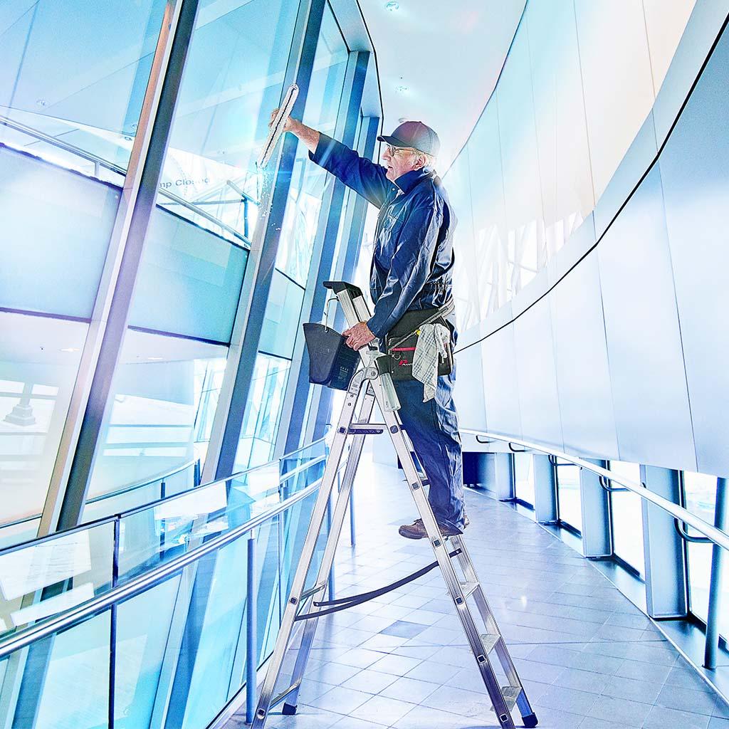 TB Davies Industrial Quadra Platform Step Ladders