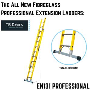 All New Fibreglass Professional Extension Ladders