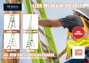 Lean,Mean Hiviz Green-GRP Fibreglass Ladders