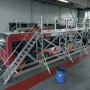 Modular Platform Surround for Rail/Passenger Vehicles