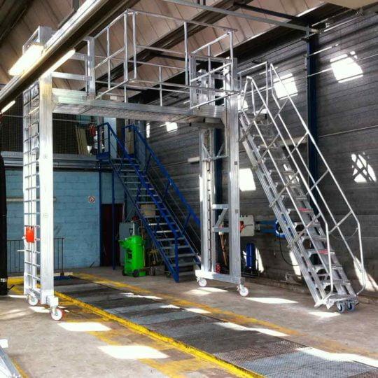 Overhead Gantry & Inspection Platform for large Vehicles