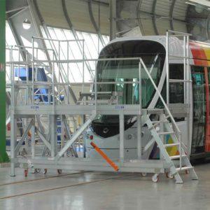 Work Platform Surround for Rail/Passenger Vehicles