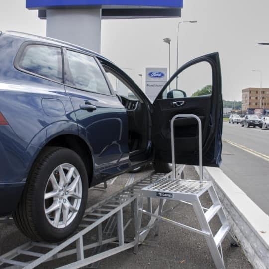 Vehicle Showroom Ramp Access Step