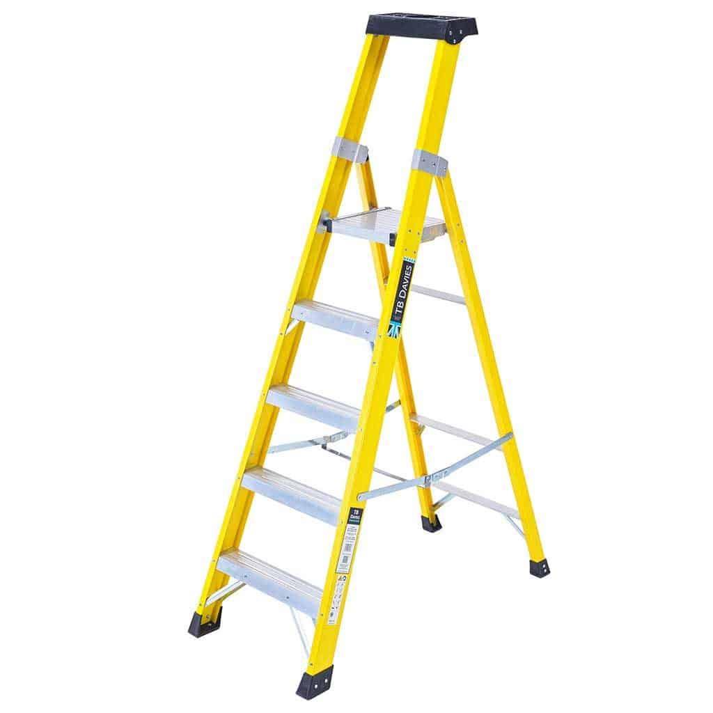 Heavy Duty Fibreglass Swingback Step Ladders